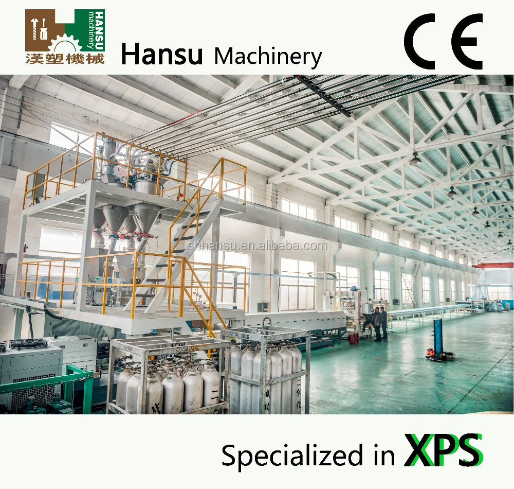 CE approved XPS polystyrene production line extrusion line /xps foam board extrusion line/xps extruder