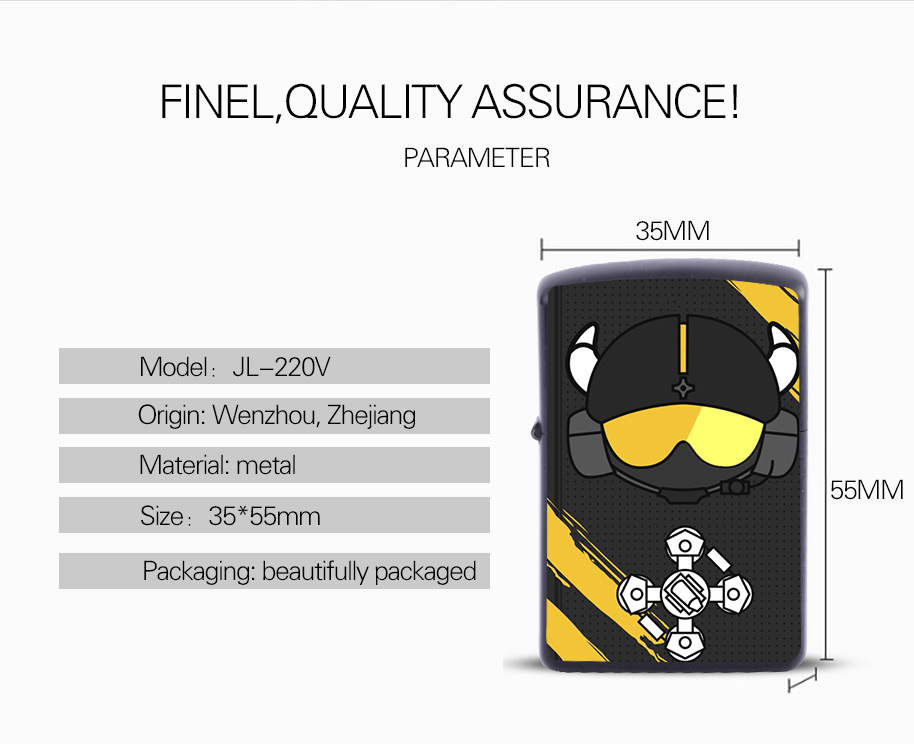 Rainbow Six Siege Rush B JAGER  Single Arc USB Electric Lighter Christmas Gift Customized Christmas  Promotion Gift Set For Men