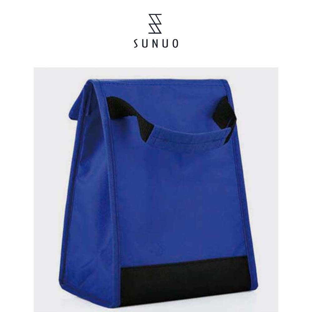 Hand Carry 420d Inside Waterproof Blue Ladies Hand Cooler Bag