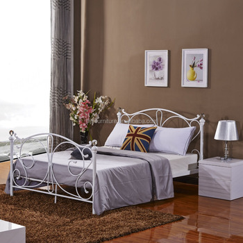 New Style Latest Metal Bed Modern Bedroom Sets Double Cot Bed ...