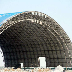 Metal Roof Steel Shed Space Frame Warehouse Steel Arch Building