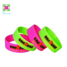 Promotional Gifts Logo Printed Custom Cheap Silicone Charm Bracelet wristbands hand band