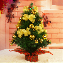 2016 desktop Yellow mini crystal decorated christmas trees for sale