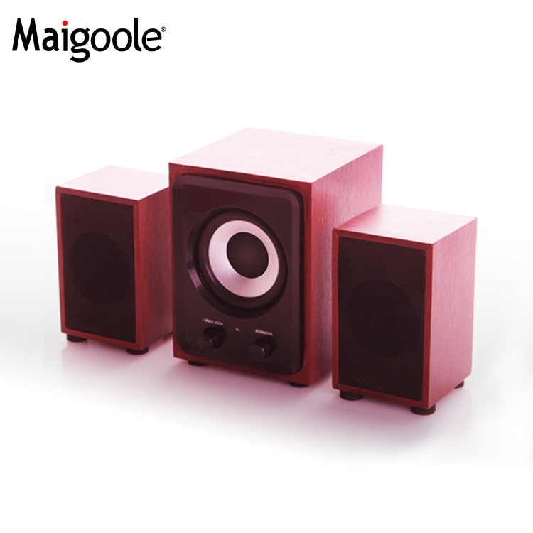 Wooden Professional home theater speaker with karaoke function