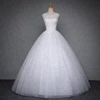 Alibaba Ball Gown Bridal Dress Sleeveless Open Back Lace Philippines Gowns Wedding Made In China