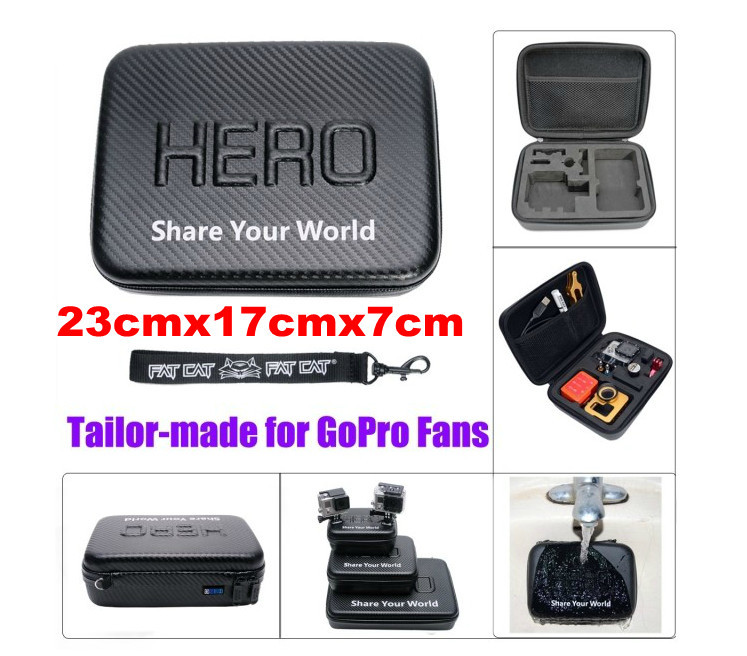 New Middle Size Super Water-proof Hard Gopro Case Bag Box For Gopro Hero 2 3 3+