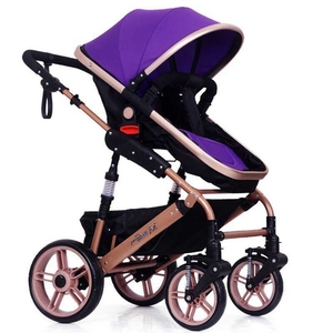 2019 New Multi-Functional Alloy Baby Stroller Baby Pram with Baby Carrier