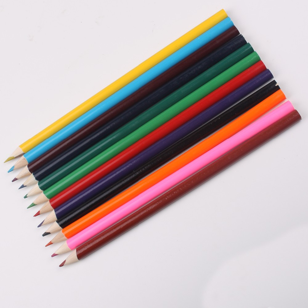 Promotional high quality wooden rainbow color art drawing pencils for painting