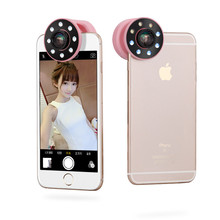 Beauty ring clip lens mobile rechargeable usb led flash selfie camera light