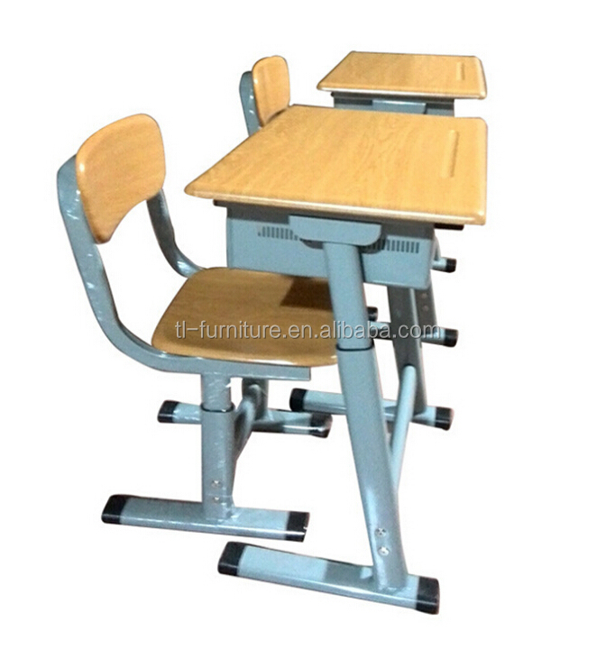 school desk bench/two seater school desks