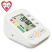 automatic talking digital bp monitor, 3 color back function low price light electronic digital cheap blood pressure monitor