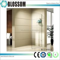 corner wall mount frameless shower door glass prices