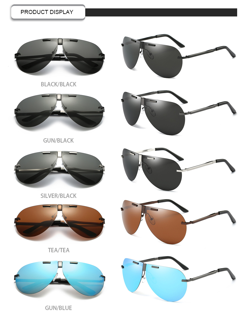 Fuqian folding sunglasses for business for driving-13