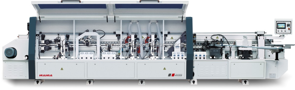 HH506R woodworking automatic edge banding machine with pre milling and corner rounding