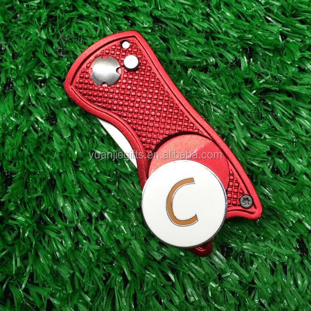 Promotional golf gift golf divot tool with custom ball marker