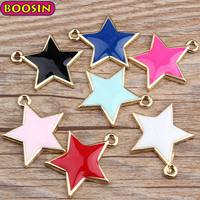 Wholesale colorful enamel star pendant charms for jewely making