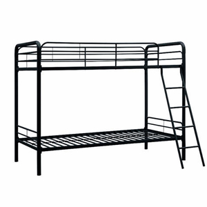 New design high quality double iron bunk twin bed