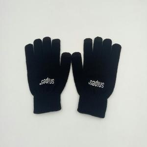 custom embroidery glove with smart touch finger