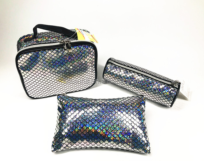 Fashion glitter mermaid PVC handbag for women