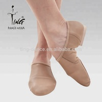 soft leather dance shoes split sole women jazz shoes