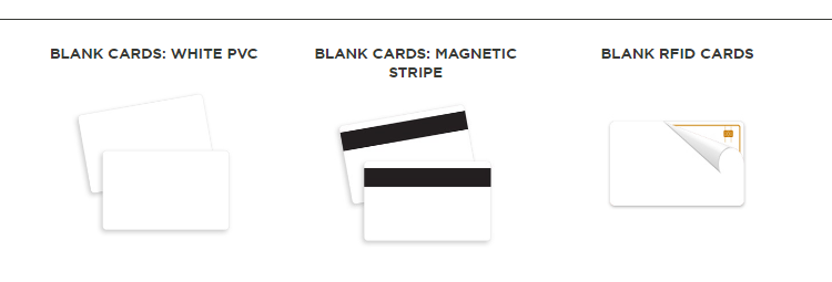 CR80 Blank White PVC Plastic Credit Gift Photo ID Cards With HiCo Magnetic Stripe