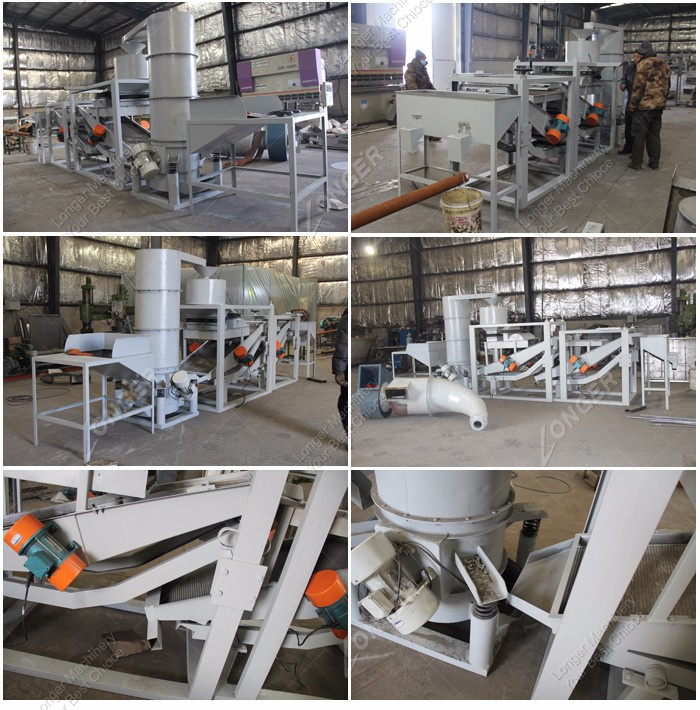 CE Approved Hemp Seeds Sunflower Seed Dehulling Machine