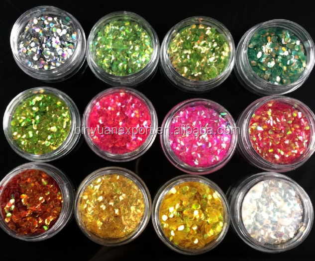 2018 BIN BY-ND-4012YL Fish Scale Flakes Nail Art Glitter