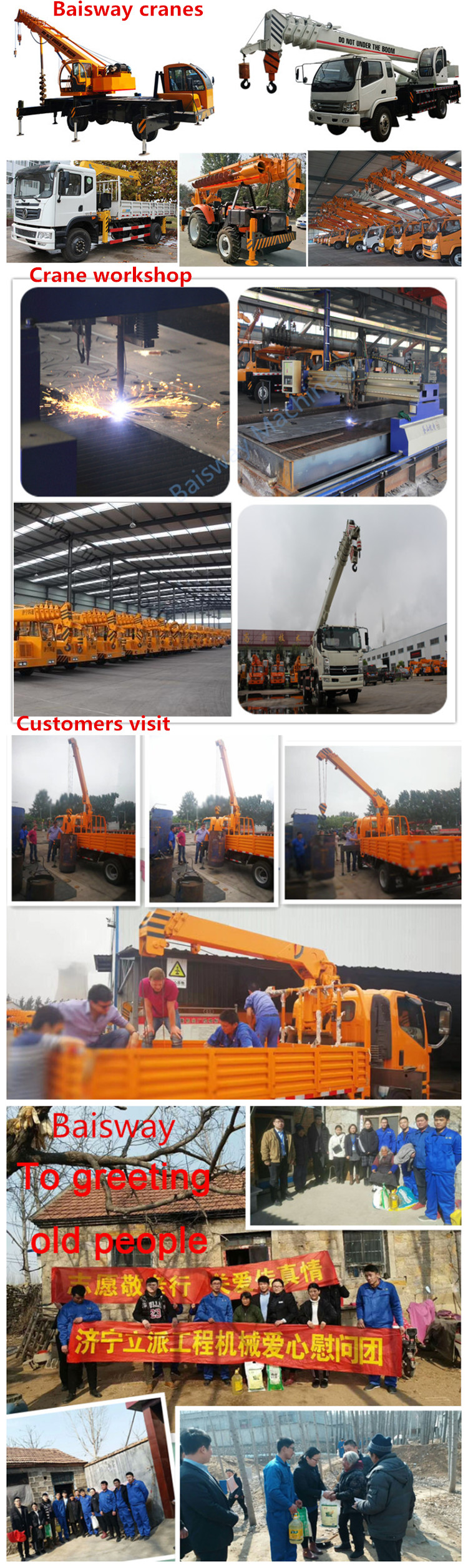 Baisway Small Space Chinese Tricycle Crane 3 ton for Sale