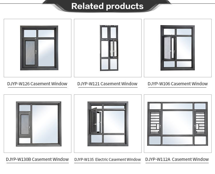 Stained or Painted Wood Grain Interior DJYP W122B Hinged and Retractable Screen Options for Best View Casement Window