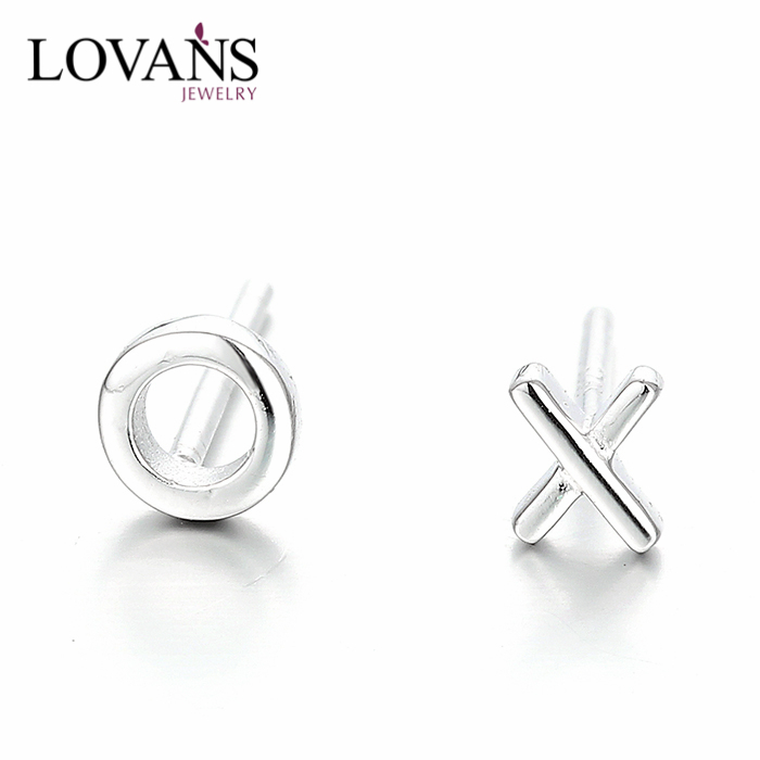925 Sterling Silver Baby Jewelry Daily Wear Earrings Simple Styles SEH041W