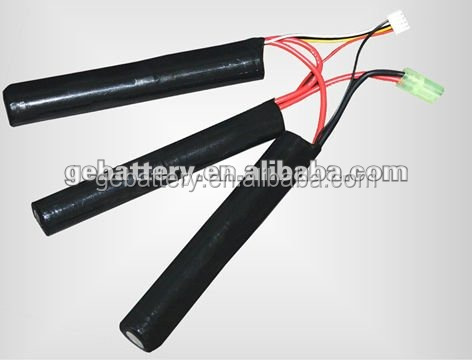 18500 11.1v 1600mah 10C airsoft gun li-ion battery pack
