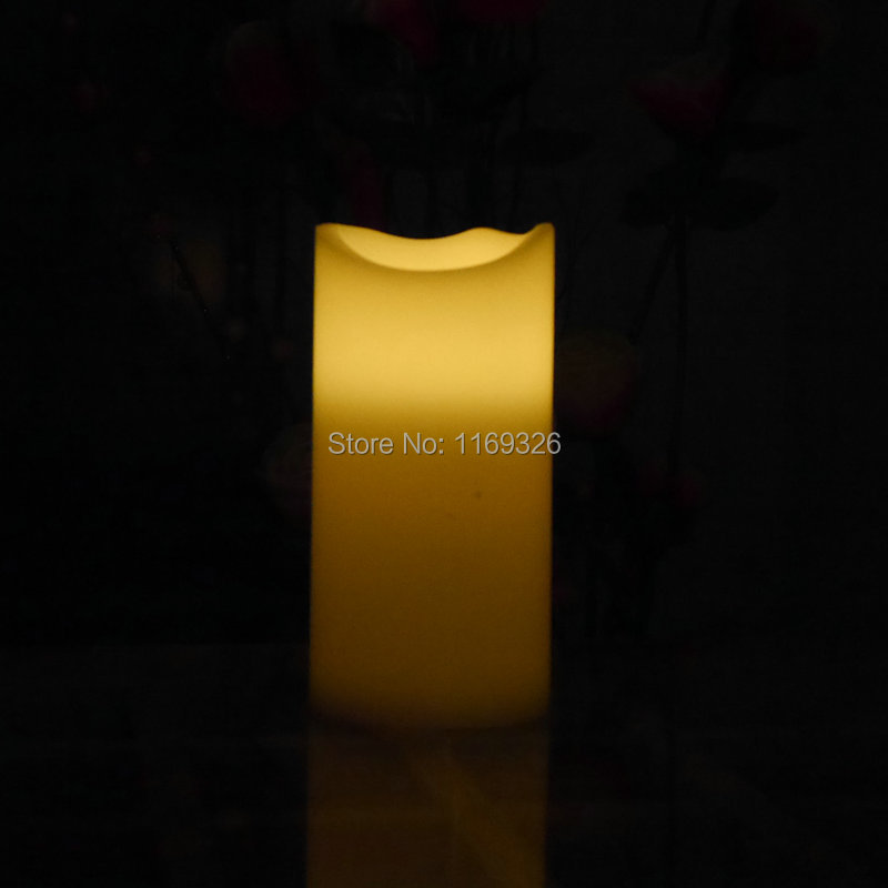 2015 New Giant candles LED wax battery operated flameless