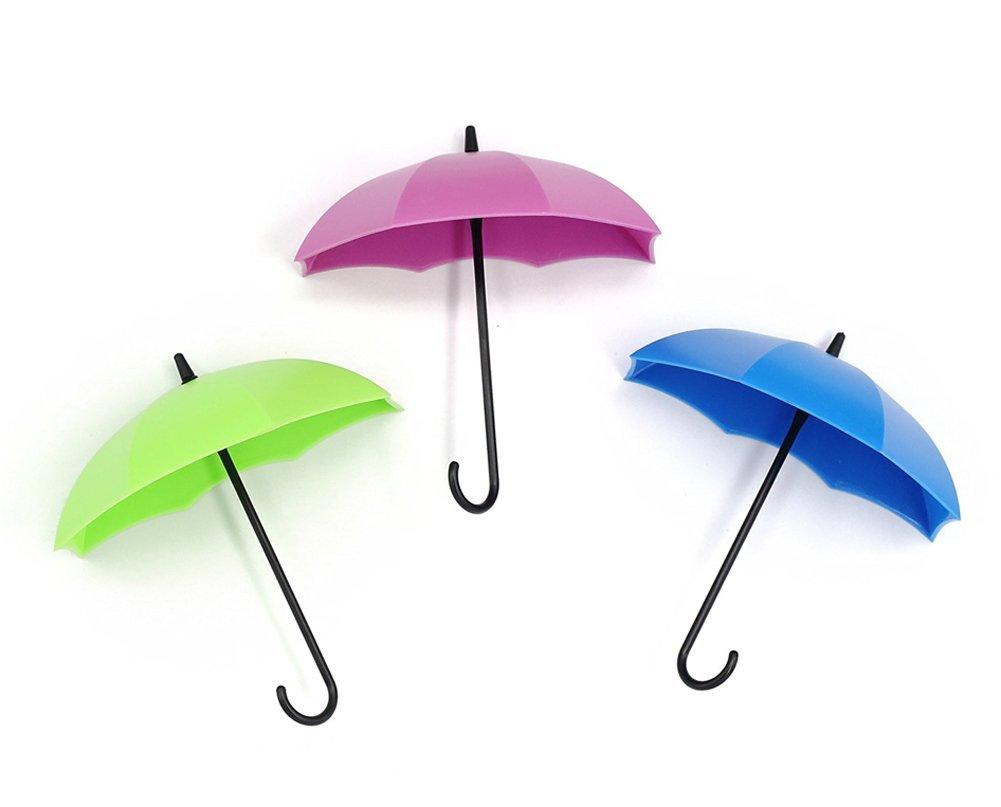 office key holder. Faithtur 3PCS Kitchen Home Use Umbrella Cute Wall Hooks Office Key Holder Bathroom Towel ( E