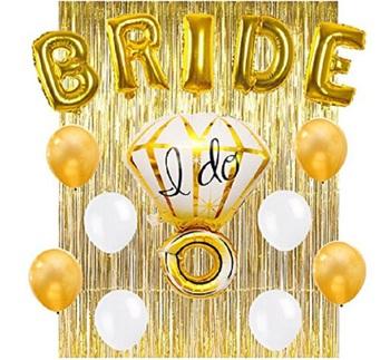 bridal shower sash balloon bridal shower kit for bachelorette party decorations
