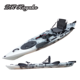 professional sea fishing kayak with kayak foot pedals and kayak rudder