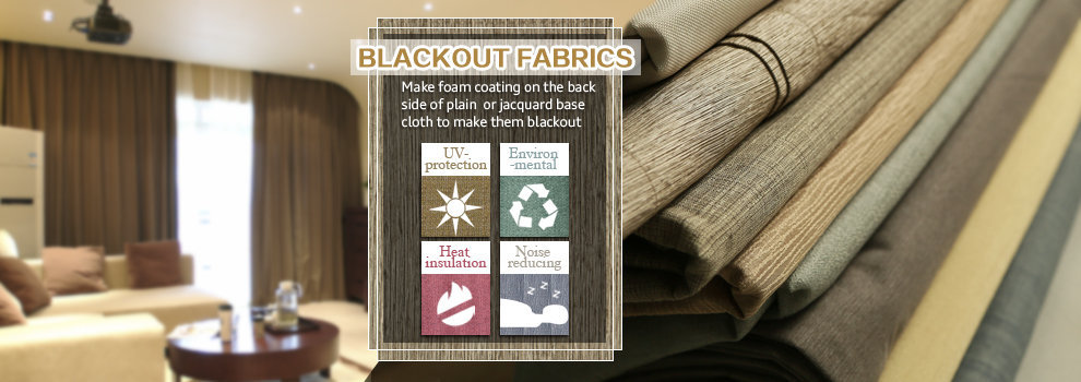 Plain Style Flame Retardant Coated Blackout Fabric for Curtains and Draperies