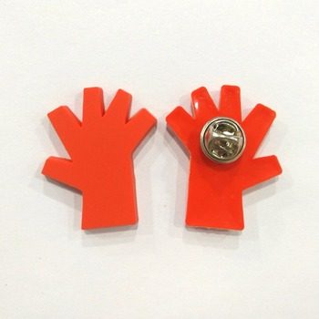 Hand Shape Custom Soft PVC Lapel Pin and Badge With Custom Design