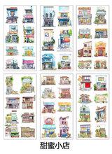 Наклейки ручной работы с единорогом Kawaii, 6 шт./лот, милые декоративные дневники для скрапбукинга, наклейки на планету, корейские Канцтовары(Китай)