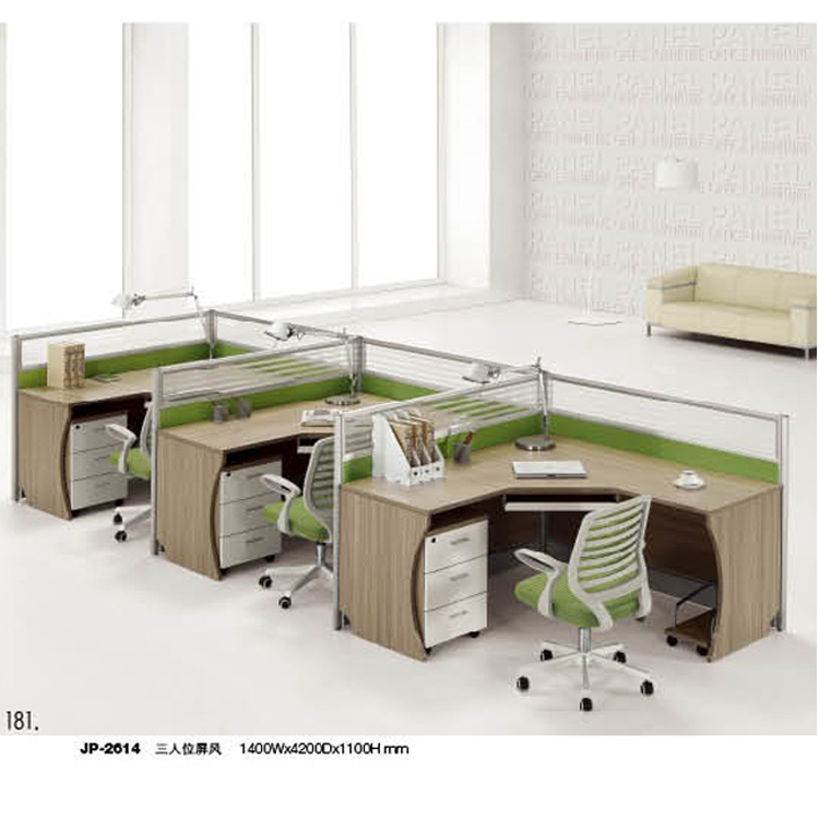 Hot Modular Office Furniture 3 Person Workstation Oem Cubicle