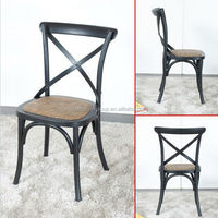 French Cross Back Cafe Chair , wood chair restaurant MX-1601