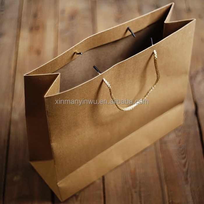Custom Logo printing Kraft Paper <strong>Bag</strong> with handles