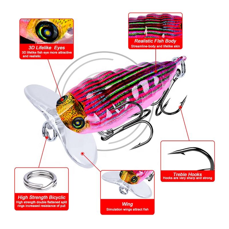 Laser Printed Cicada Crankbait Plastic Hard Lure 4cm 4g Floating Bass Bait  Fishing Tackle - Buy Bait Fishing Lure,Laser Crankbait,Bait Ball Hard Lure