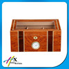 Luxury glass top solid wooden humidor cigar box with lock,removable tray