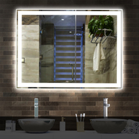 Wall-mounted Fogless LED Bathroom Touch Sensor Mirror
