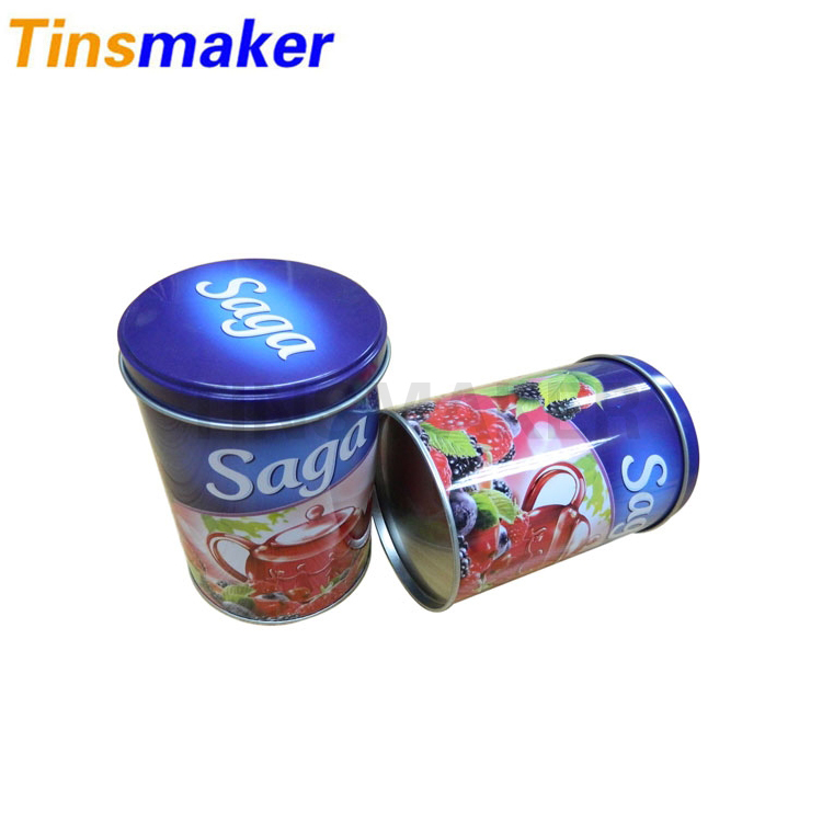 2017 Creative design malaysia colored round candy tin box in China