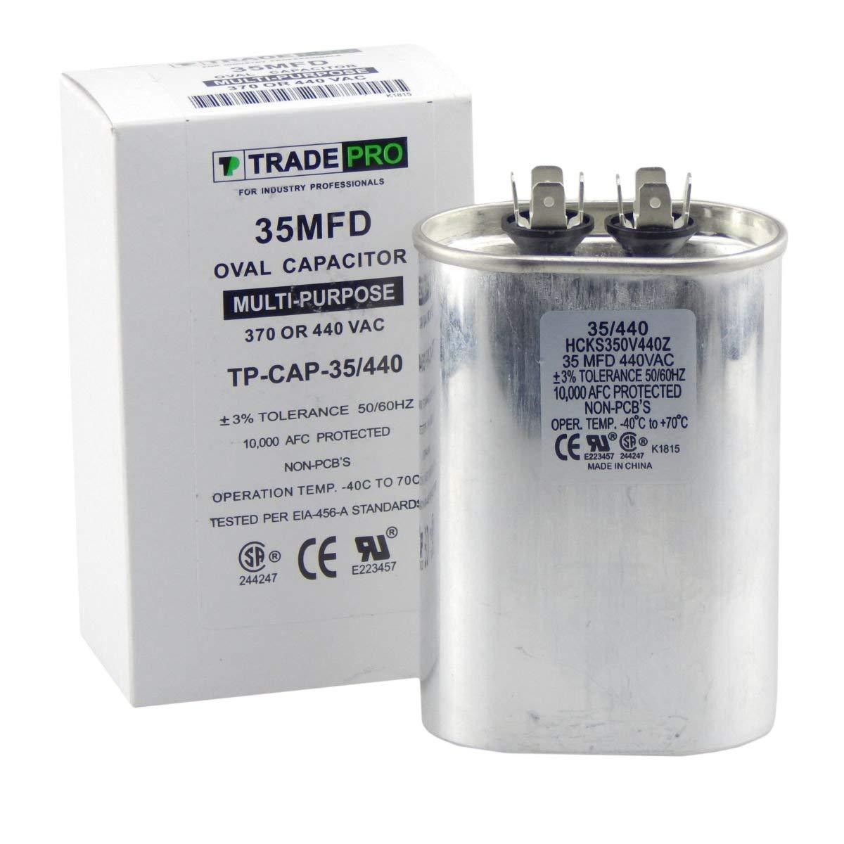 5 uf MFD 370//440 Volt VAC fits Corsaire # 8552-5513 ClimaTek Oval Capacitor
