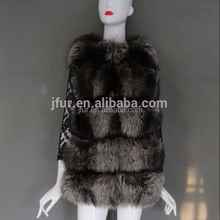 Fashion Vrouwen Winter Real Silver fox Bont <span class=keywords><strong>Vest</strong></span> OEM wholesale retail