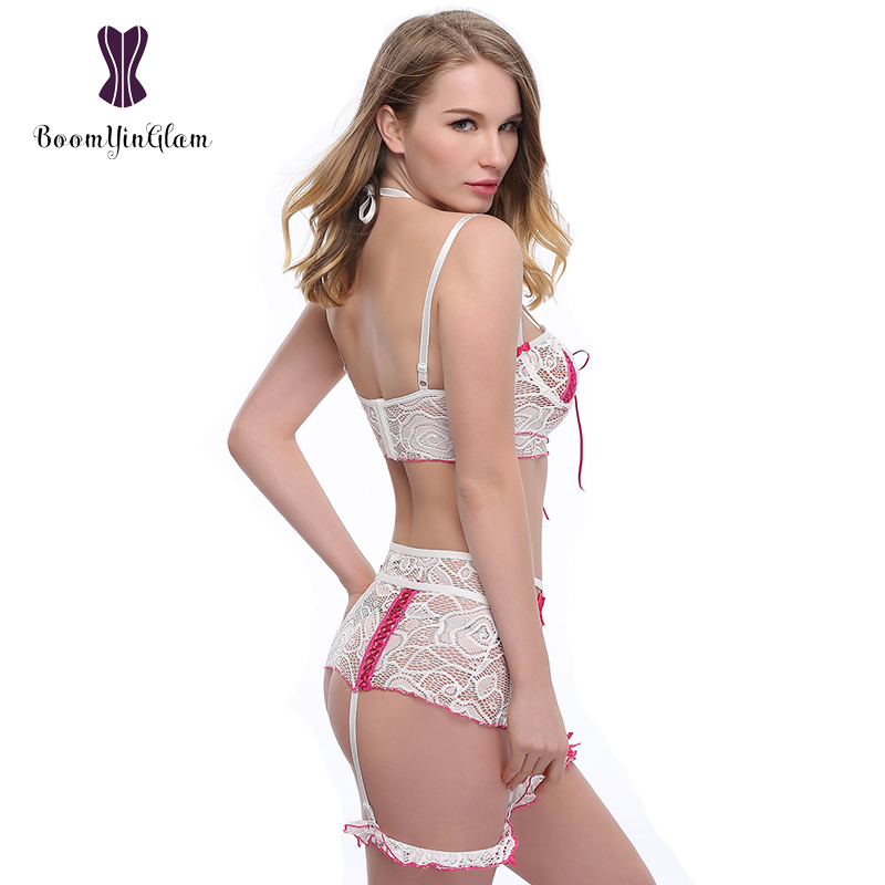 High quality honeymoon lingerie suspender garter sexy lingerie for lady