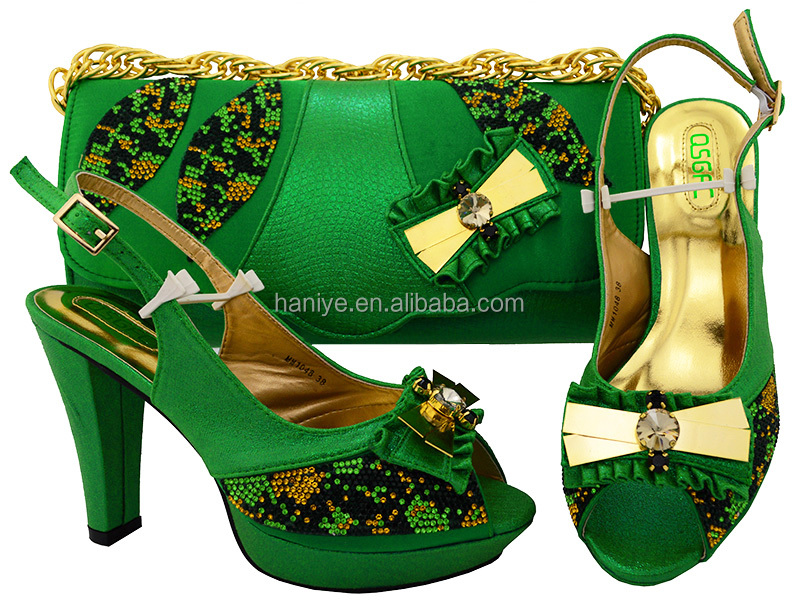 matching bag heel for high shoes Fashion party and shoes set Italian high bag Lady quality XqS1SU