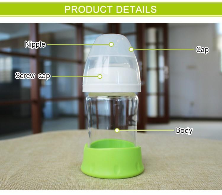 Unique Design Crystal Diamond Arc Shaped Baby Bottle 6oz With Soft ...